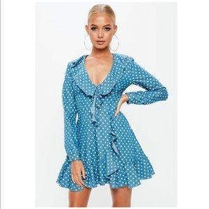 Missguided polka dots dress